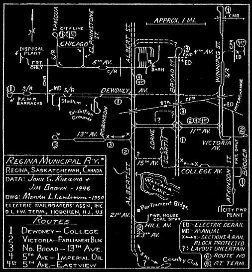 Streetcar map of Regina